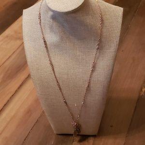NWT Lia Sophia copper colored necklace